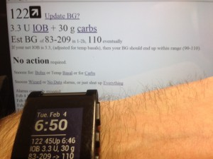 DIYPS prototype with Pebble