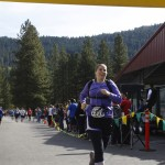Dana Lewis finishing the Leavenworth half marathon