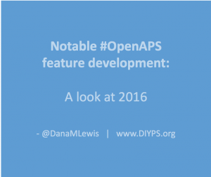 OpenAPS feature development in 2016