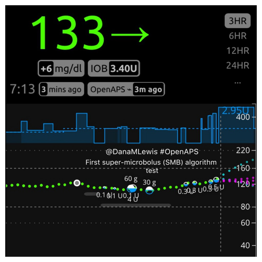 First oref1 SMB OpenAPS test by @DanaMLewis