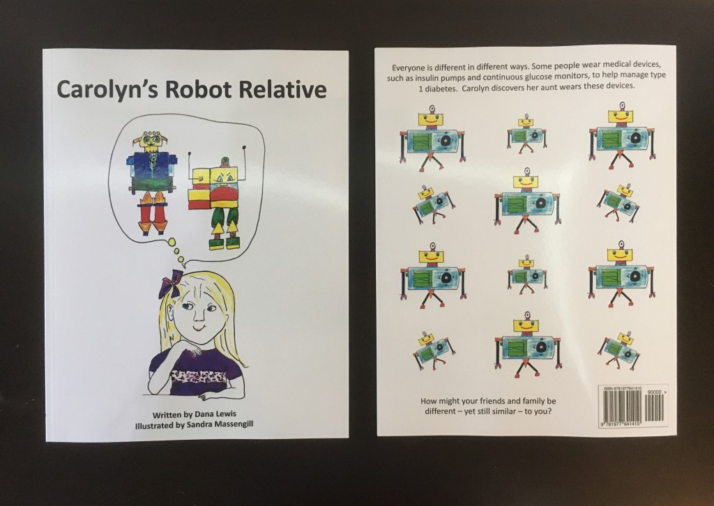 "front and back of ""Carolyn's Robot Relative"" by @DanaMLewis"