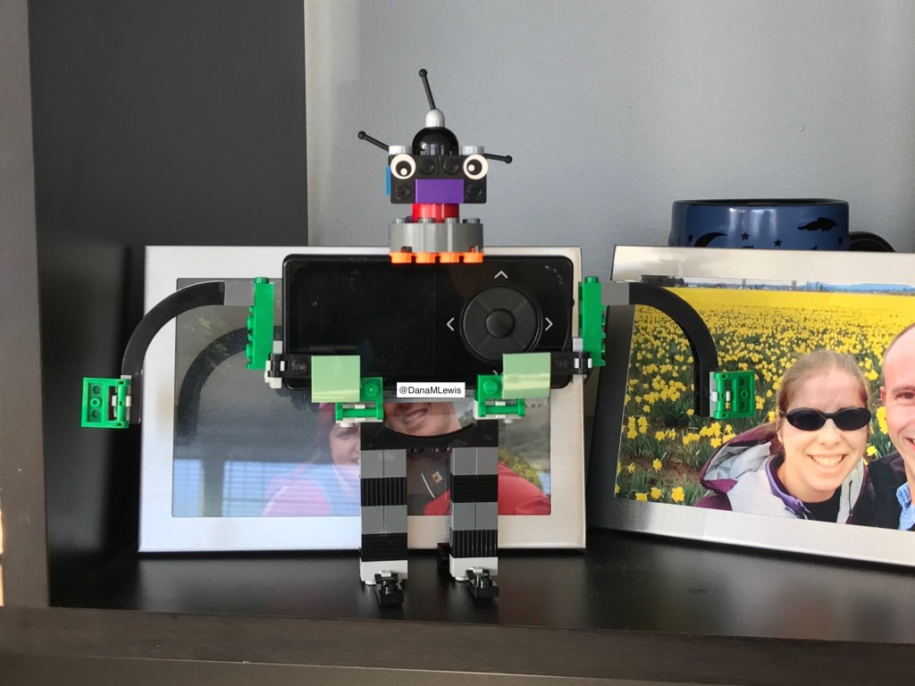 CGM lego robot in black by DanaMLewis