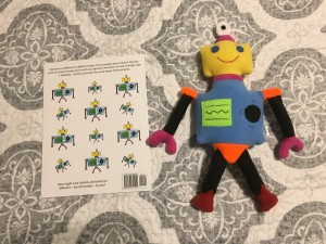 CGM robot stuffy from Carolyn's Robot Relative by DanaMLewis
