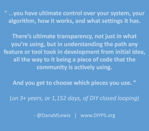 3 years of closed looping with #OpenAPS by @DanaMLewis