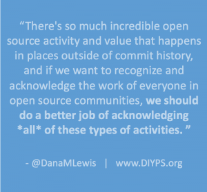 Acknowledging all contributions in open source by DanaMLewis