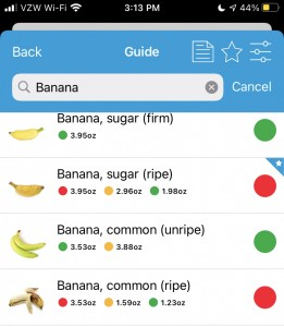 Example from Monash's app showing different color orders