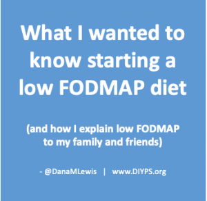Header image: What I wanted to know about starting a low FODMAP diet and how I explain low FODMAP to family and friends